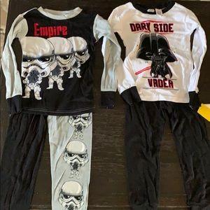 🤖NWT Starwars Toddler (Set of 2) Pajamas (Size4)